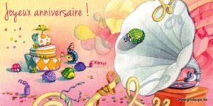 carte postale illustrée par dominique mertens et éditée aux éditions de cortil joyeux anniversaire