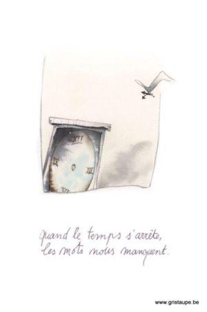 carte postale illustrée par johanna dupont et éditée aux éditions de cortil condoléances les mots me manquent
