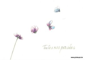 carte postale illustrée par