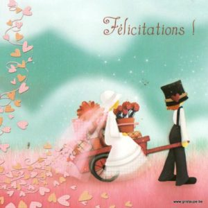 carte postale illustrée par magali roux et éditée aux éditions kiub mille lumières felicitations mariage
