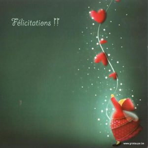carte postale illustrée par magali roux et éditée aux éditions kiub félicitations