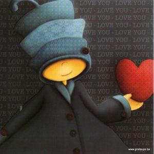 carte postale illustrée par magali roux et éditée aux éditions kiub mille lumière love you coeur