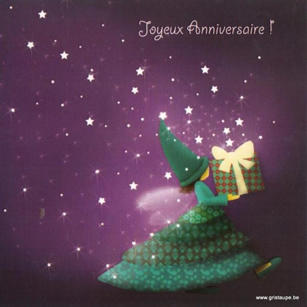 carte postale illustrée par magali roux et éditée aux éditions kiub joyeux anniversaire cadeau