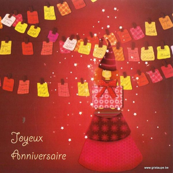 carte postale illustrée par magali roux et éditée aux éditions kiub mille lumière joyeux anniversaire