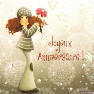 carte postale illustrée par magali roux et éditée aux éditions kiub mille lumières joyeux anniversaire fleur