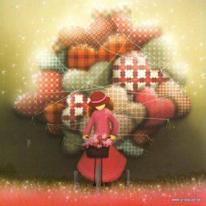 carte postale illustrée par magali roux et éditée aux éditions kiub mille lumières livrraison d'amou