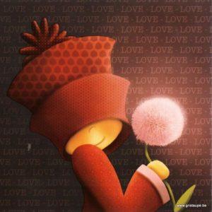 carte postale illustrée par magali roux et éditée aux éditions kiub mille lumières love