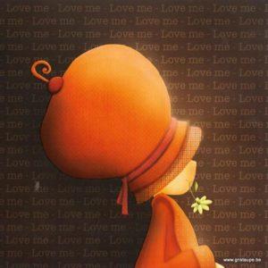 carte postale illustrée par magali roux et éditée aux éditions kiub mille lumières love me