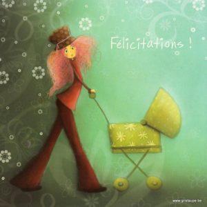 carte postale illustrée par magali roux et éditée aux éditions kiub mille lumière felicitations enfant