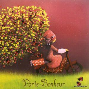 carte postale illustrée par magali roux et éditée aux éditions kiub mille lumières porte bonheur