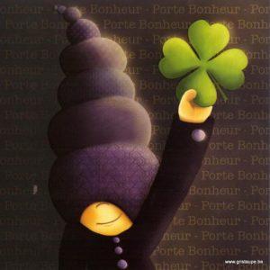 carte postale illustrée par magali roux et éditée aux éditions kiub mille lumière porte bonheur