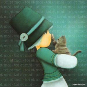 carte postale illustrée par magali roux et éditée aux éditions kiub toi et moi chat