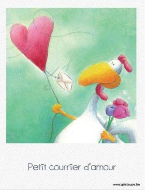 carte postale illustrée par marie pierre fauville et éditée aux éditions de cortil petit courrier d'amour