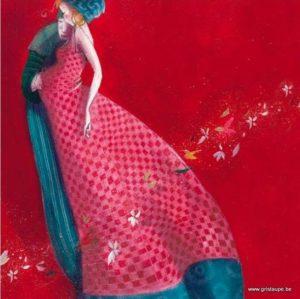carte postale illustrée par nathalie polfiet et éditée aux éditions de cortil en attendant