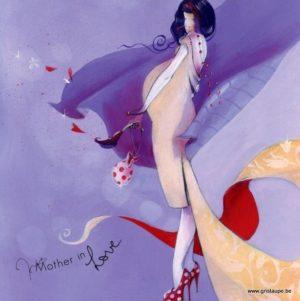 carte postale illustrée par nathalie polfiet et éditée aux éditions de cortil Maman à petits pois