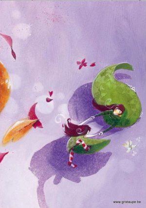carte postale illustrée par nathalie polfliet et éditée aux éditions de cortil entre dans la ronde