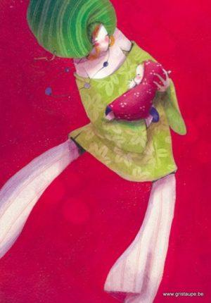 carte postale illustrée par nathalie polfliet et éditée aux éditions de cortil lilirose