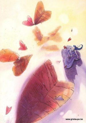 carte postale illustrée par nathalie polfliet et éditée aux éditions de cortil naturelle