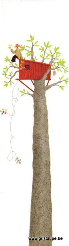 marque page illustré par pascaline et édité aux éditions coté bord'eau ma cabane dans l'arbre