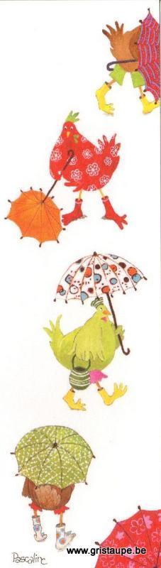 marque page illustré par pascaline et édité aux éditions coté bord'eau un petit coin de parapluie