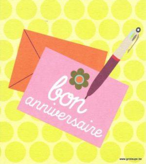 carte postale illustrée par hil claessens et éditée aux édition mailbox bon anniversaire