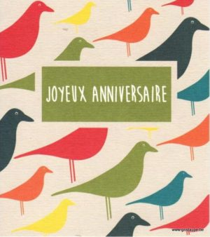 carte postale illustrée par hil claessens et éditée aux éditions mailbox joyeux anniversaire