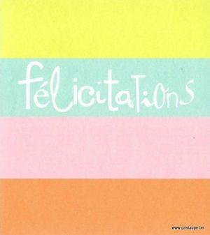 cartes postales illustrée par hil claessens et éditée aux éditions mailbox félicitations