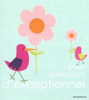 carte postale illustrée par hil claessens et éditée aux éditions mailbox pour quelqu'un d'exceptionnel