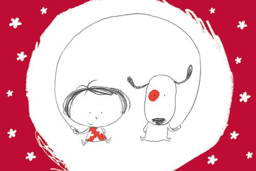 xcarte postale illustrée par JP arrou vignod et et O Tallec et éditée aux éditions kiub sans texte