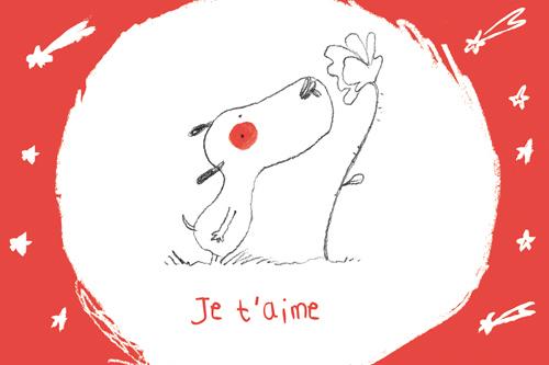carte postale illustrée par JP Arrou vignod et O Tallec je t'aime