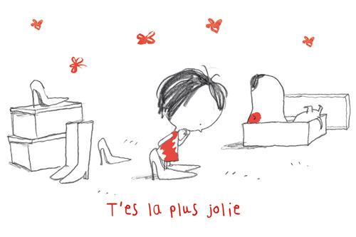 carte postale illustrée par JP Arrou vignod et O Tallec rita et machin tu es la plus jolie