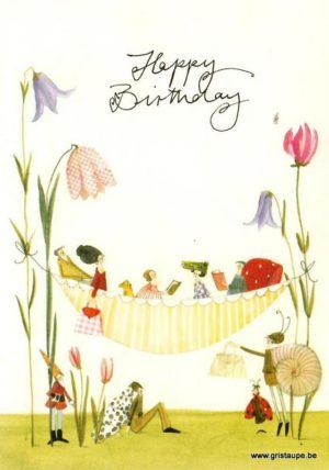 carte postale illustrée par silke leffler et éditée aux éditions graetz happy birthday