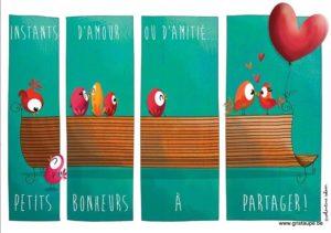 Carte postale illustrée par valentine iokem et éditée aux éditions de cortil instant d'amour