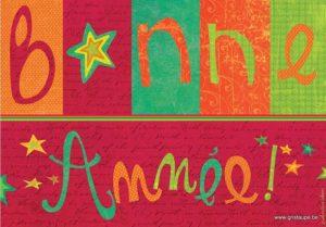 carte postale illustrée par valentine iokem et éditée aux éditions de cortil bonne année étoiles