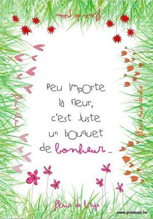 carte postale illustrée par valentine iokem et éditée aux éditions de cortil peu importela fleur c'est juste un bouquet de bonheur