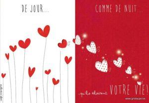 carte postale illustrée par valentine iokem et éditée aux éditions de cortil de jour comme de nuit qu'ils éclaire votre vie
