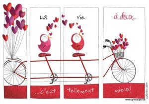 carte postale illustrée par valentine iokem et éditée aux éditions de cortil la vie à deux c'est tellement mieux