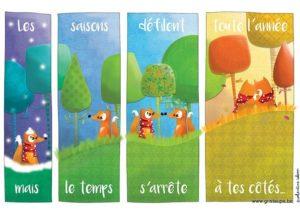 carte postale illustrée par valentine iokem et éditée aux éditions de cortil Le tempqs s'arrête à tes cotés