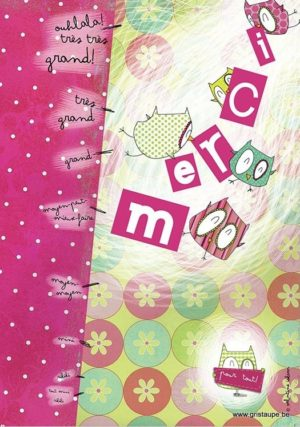 carte postale illustrée par valentine iokem et éditée aux éditions de cortil merci pour tout