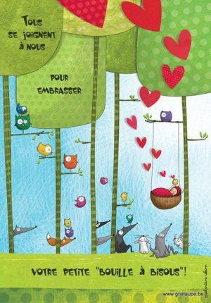 carte postale illustrée par valentine iokem et éditée aux éditions de cortil bouille à bisous