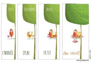 carte postale illustrée par valentine iokem et éditée aux éditions de cortil c'est tellement doux l'arrivée d'un petit de vous