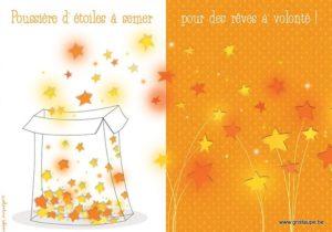 carte postale illustrée par valentine iokem et éditée aux édtions de cortil poussières d'étoiles à semer pour des rêves à volonté