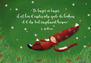 carte postale illustrée par valentine iokem et éditée aux éditions de cortil simplement heureux