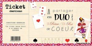 carte postale illustrée par valentine iokem et éditée aux éditions de cortil ticket émotions