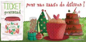 carte postale illustrée par valentine iokem et éditée aux éditions de cortil ticket gourmand