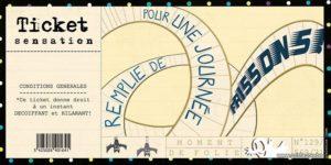 carte postale illustrée par valentine iokem et éditée aux éditions de cortil ticket sensation