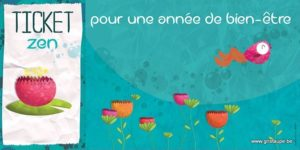 carte postale illustrée par valentine iokem et éditée aux éditions de cortil ticket zen