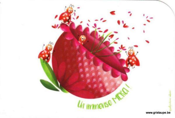 carte postale illustrée par valentine iokem et éditée aux éditions de cortil un immense merci