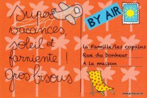 carte postale illustrée par cecile devron et éditée aux éditions coté bord'eau en vacances