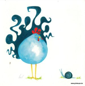 carte postale illustrée par izzi et éditée par les éditions gulf stream hervé le poulet